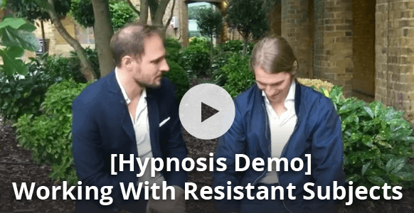 [Hypnosis Demonstration] How To Bypass The Critical Factor & Put A Resistant Subject Into A Hypnotic Trance