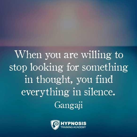 gangaji quotes meditation hypnosis
